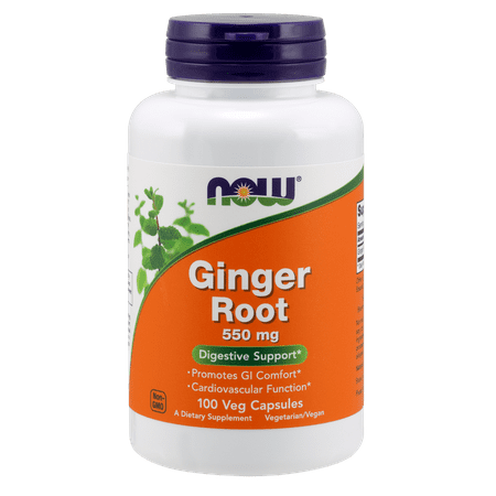 (2 Pack) NOW Ginger Root 550 mg Capsules, 100 Ct