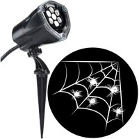 Halloween Lightshow Projection Plus Whirl a Motion Static White Spider with Web (White)