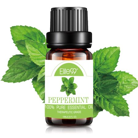 Elite99 10ML Peppermint Essential Oil 100% Pure & Natural Aromatherapy Oils For Diffuser,Massage,Relaxation ()