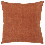 "Rizzy Home Decorative Downfilled Throw Pillow Solid 20""X20"" Rust"
