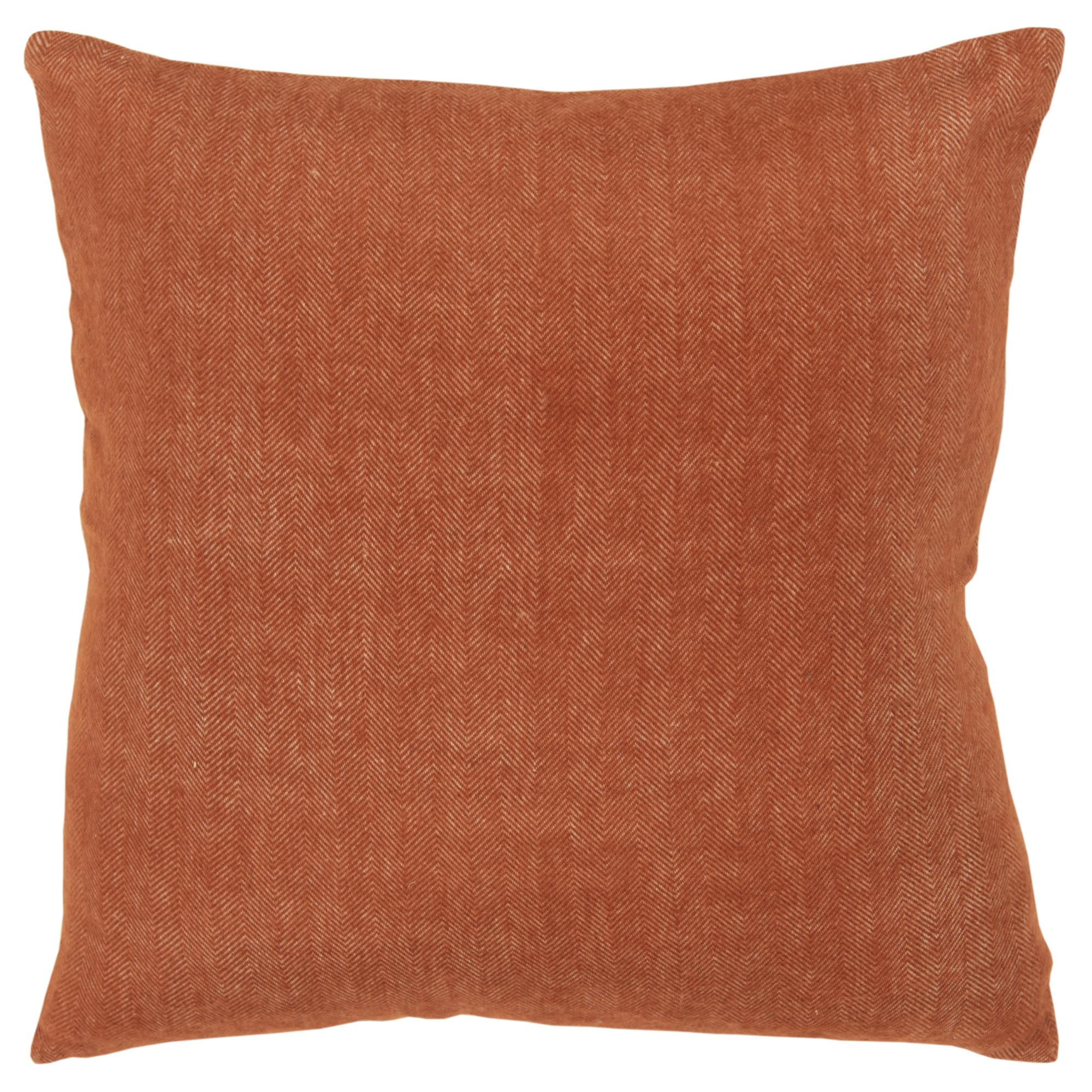 """Rizzy Home Decorative Poly Filled Throw Pillow Solid 20""""X20"""" Rust"""