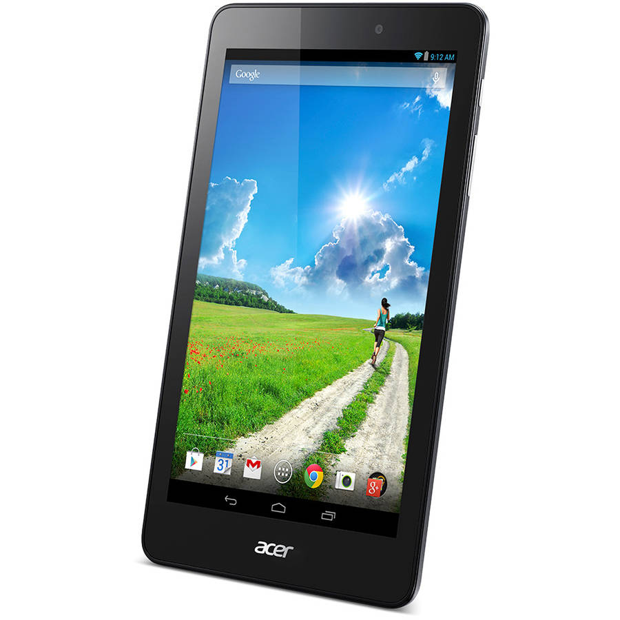"Refurbished Acer Iconia One 8 with WiFi 8"" Touchscreen Tablet PC Featuring Android 4.4 (KitKat) Operating System, Black"