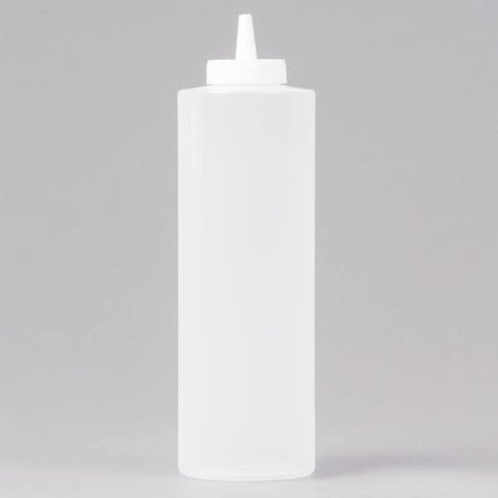 Adcraft PBD-12CL 12 Oz. Clear Plastic Squeeze Out Dispenser ()