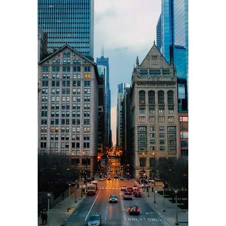LAMINATED POSTER Urban Buildings City Illinois Skyscrapers Chicago Poster Print 24 x 36 (Party City Hours Chicago)