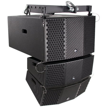 Home Audio Subwoofer Reviews - Seismic Audio Compact Line Array Package - 3x10 Subwoofer, Pair of 2x5 Speakers and Frame - CLA-PKG2