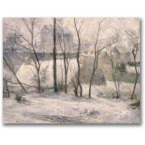 "Trademark Fine Art ""Winter Landscape"" Canvas Wall Art by Paul Gauguin"