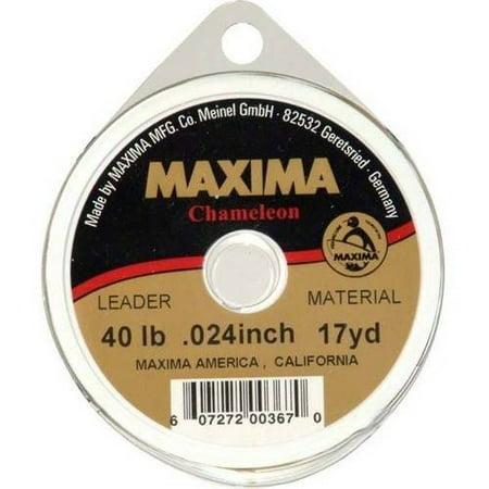 Maxima Chameleon Leader 40lb, 17 yard, .024 inch leader material