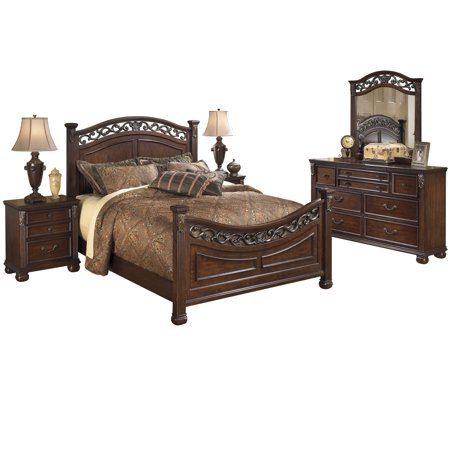 Ashley Furniture Leahlyn 5 Pc Bedroom Set Cal King Panel