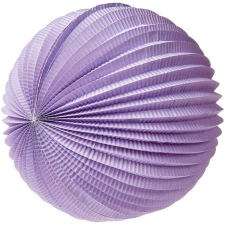 Luna Bazaar Accordion Paper Lantern (12-Inch, Lilac Purple) - Chinese/Japanese Hanging Decorations - For Home Decor, Parties, and Weddings for $<!---->