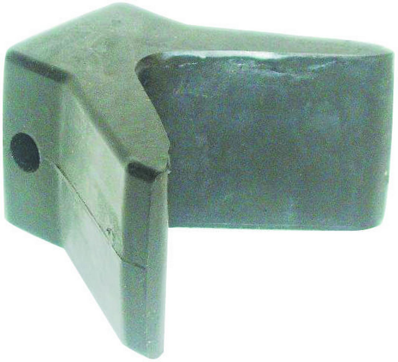 US Hardware M-279C Trailer Bow Stop, 4 in Opening, Rubber, Black