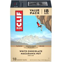 CLIF Bar Energy Bars, White Chocolate Macadamia Nut, 9g Protein Bar, 18 Ct, 2.4 oz