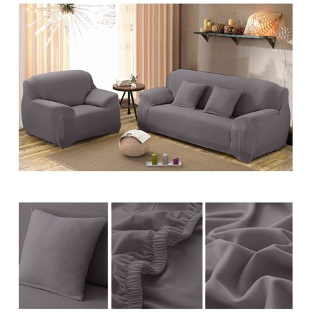 Couch Sofa Slipcovers,Home Full Stretch Lightweight Elastic Fabric Soft Couch Covers Sofa Protector,Fit Many 1-4 Sofas(Coffee,1Seat)