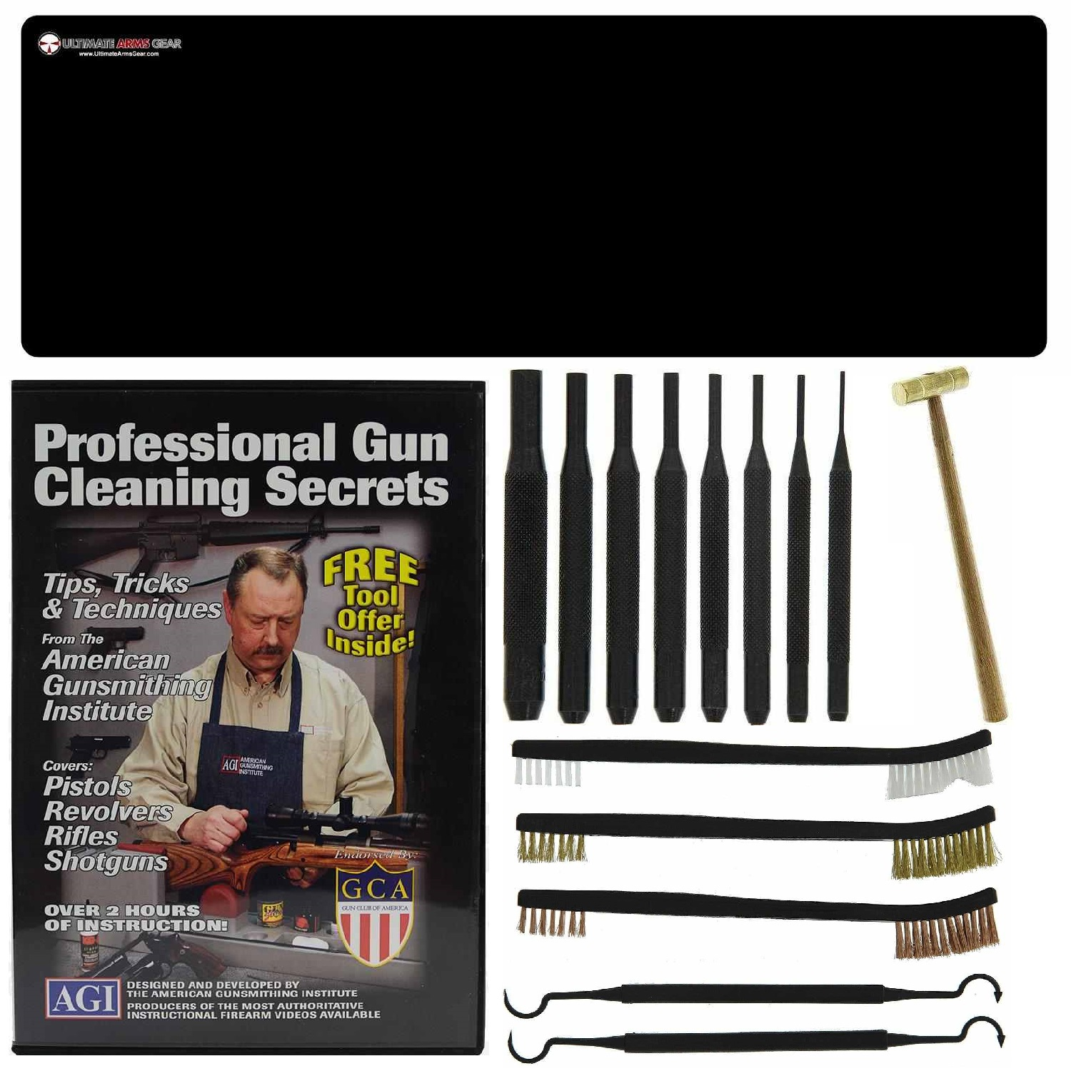 AGI DVD Pro Gun Cleaning Course Weatherby Mark V Tar-Hunt RSG-12 Bolt Action Rifle + Ultimate Arms Gear Gunsmith &... by