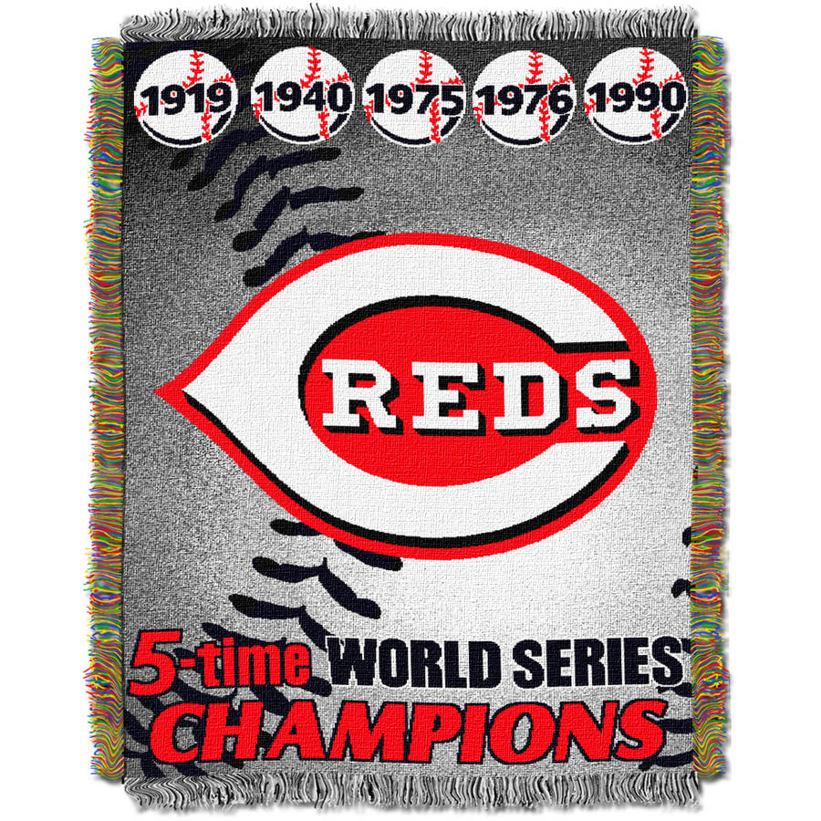 "MLB 48"" x 60"" Commemorative Series Tapestry Throw, Reds"