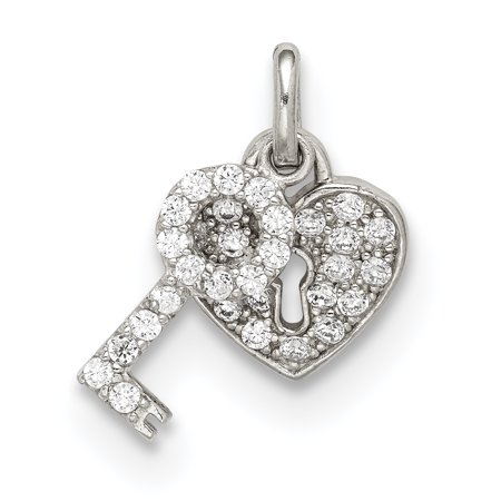 925 Sterling Silver Cubic Zirconia Cz Heart Lock Key Pendant Charm Necklace Love With Gifts For Women For Her](Lock And Key Jewelry For Couples)