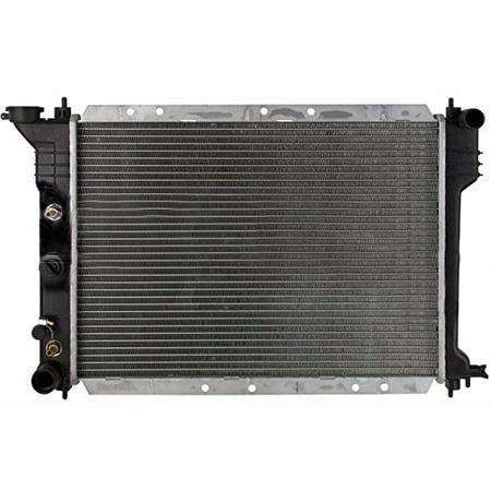 Radiator - Pacific Best Inc For/Fit 883 81-89 Chrysler K-Platform Lebaron Fifth Avenue E-Type Laser Lancer Caravelle L4 2.2L Plastic Tank Aluminum