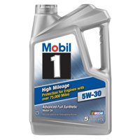 Mobil 1 High Mileage Full Synthetic Motor Oil 5W-30, 5 Quart