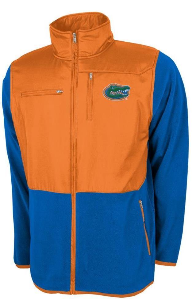 Florida Gators NCAA Poly Dobby Full Zip Polar Fleece Jacket Blue by Genuine Stuff