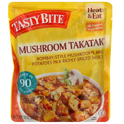 Tasty Bite Takatak Bombay-Style Mushroom and Potatoes in a Richly Spiced Sauce, 10 oz, (Pack of 6)