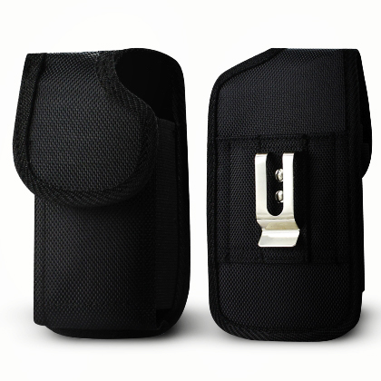 For Samsung Galaxy S3 / 9300 Rugged Nylon Pouch Plus Cell Phone With Cover Size Black