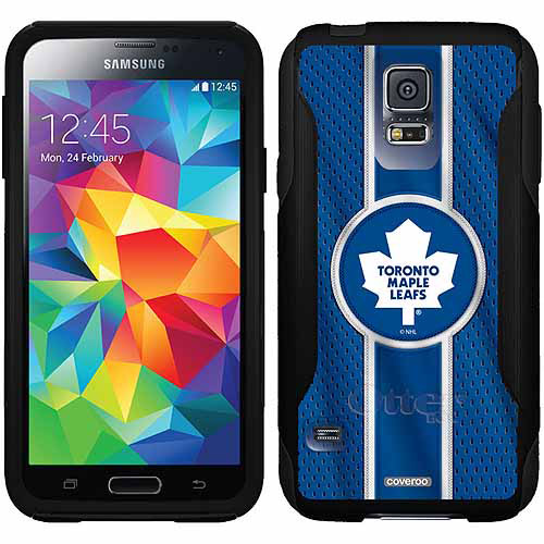 Toronto Maple Leafs Jersey Stripe Design on OtterBox Commuter Series Case for Samsung Galaxy S5