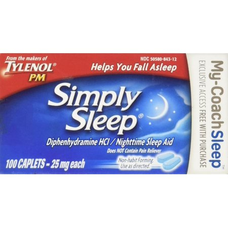 Simply Sleep Nighttime Sleep Aid Caplets-100 count, Fall asleep fast - Pharmacist preferred OTC ingredient By (Best Otc For Sleep)