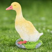 YLSHRF Outdoor Garden Pool Animal Duck Ornament Figurine Model Resin Yard Pond Lawn Statue, Garden Ornaments,Garden Decoration