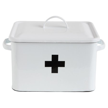 - 3R Studios Enameled Decorative First Aid Box
