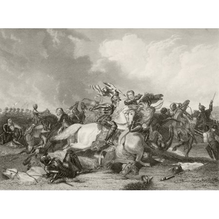 Richard Iii And The Earl Of Richmond Later Henry Vii At The Battle Of Bosworth Field August 22 1485 From A Nineteenth Century Print Stretched Canvas - Ken Welsh  Design Pics (17 x 12)