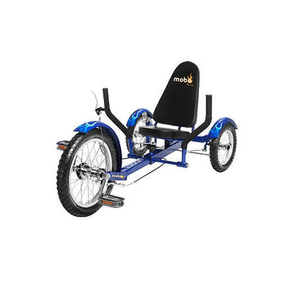 Blue 3 Three Wheel Wheeler Bicycle Cruiser Bike Tricycle Low Rider Riding Trike
