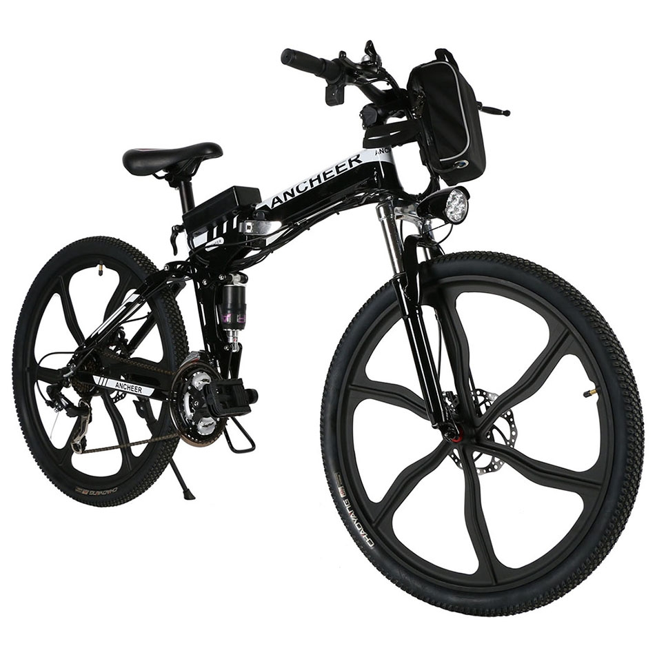 500W 36V  Electric Mountain Bicycle Bike  26'' 27 Speed Foldable E-Bike  with Lithium-Ion Battery ROJE
