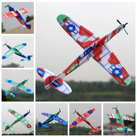 Themes For 4 Year Old Birthday Party (AkoaDa Airplane Toys Flight Mode Glider Plane, Flying Toy for Kids, Gifts for 3 4 5 6 7 Year Old Boy, Outdoor Sport Toys Birthday Party Favors Foam)