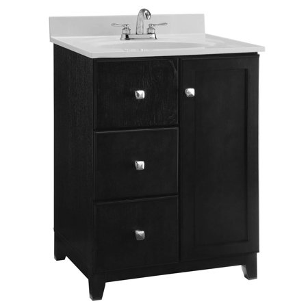 Design House 546994 Shorewood Unassembled 1 Door 2 Drawer Vanity Without Top 24 Espresso