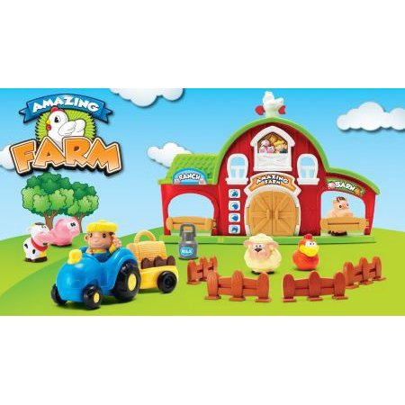 Amazing Farm Red Barn House With Tractor And Lots Of