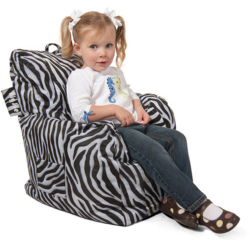 Big Joe Cuddle Bean Bag Chair, Zebra