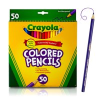 Crayola Colored Pencil Set, 50-Colors