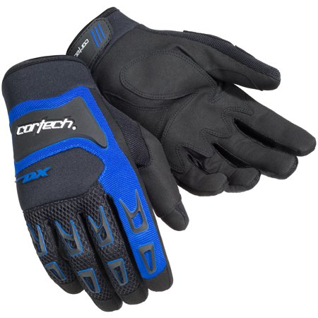 Cortech DX-3 Mens Gloves Black/Blue XL (Cortech Motorcycle Gloves)