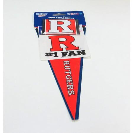 Rutgers Scarlet Knights Mini Fan Pack (Mini Fan Deco)