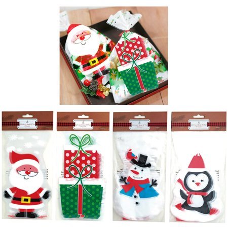30 Christmas Cello Loot Bags Party Favor Treat Xmas Goody Candy Stocking Stuffer Buddies Treat Bags