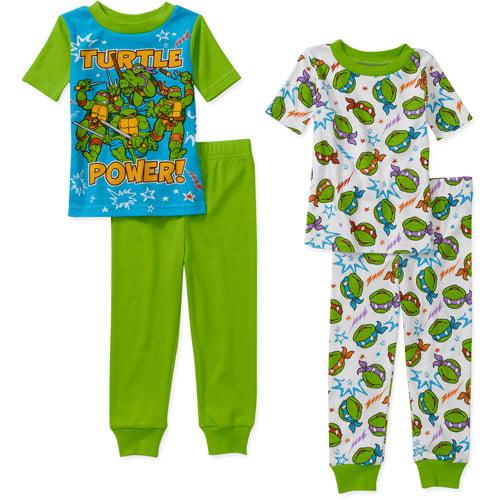Nickelodeon Baby Boys' Teenage Mutant Turtles 4 Piece Cotton Short Sleeve PJ Set