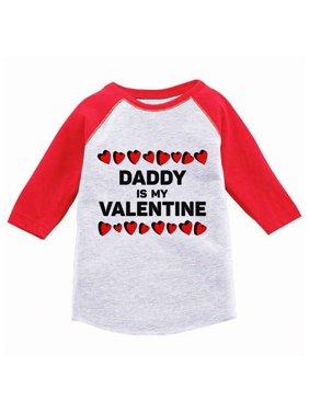 ba6ecd44 Product Image Awkward Styles Daddy Is My Valentine Toddler Raglan Shirt  Valentine Jersey Shirt Dad Daughter Gifts Valentine