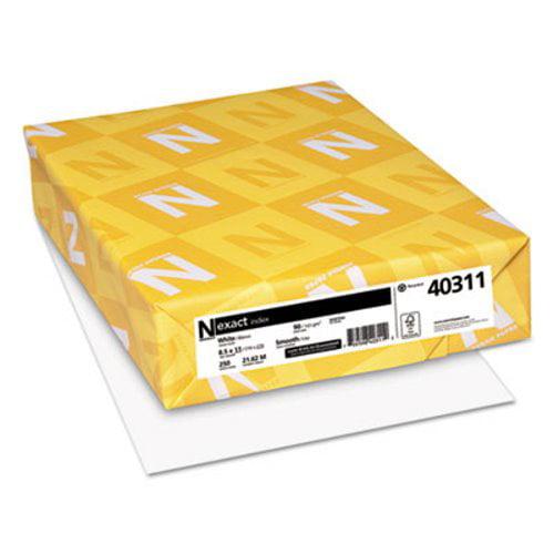 Neenah Exact Index Cardstock, 90 lb., 8-1/2 x 11, White, 250 Sheets (WAU40311)