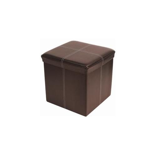 FHE Group 250001-002 Folding Ottoman with Zipper -Brown