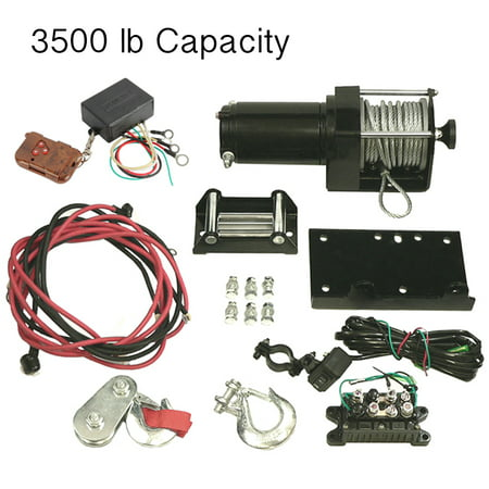 NEW 3500LB WINCH ASSEMBLY AND REMOTE FITS CAN-AM HONDA ATV UTV RW00707 77-38-10907 43101004 773810907 WIN2800 APS10908 431-01004
