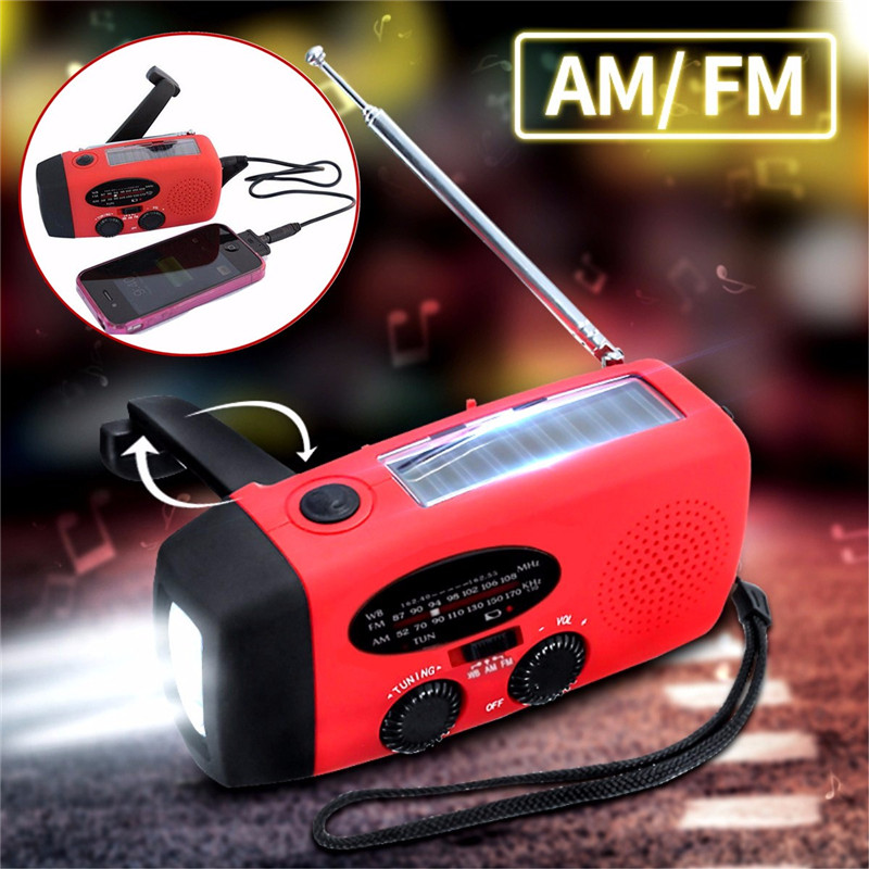 Click here to buy Portable Dynamo AM FM Weather Radio Emergency Solar Hand Crank Radio, LED Flashlight Smart....