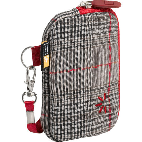 Case Logic UNZT-2 Compact Camera Case (Red Plaid)