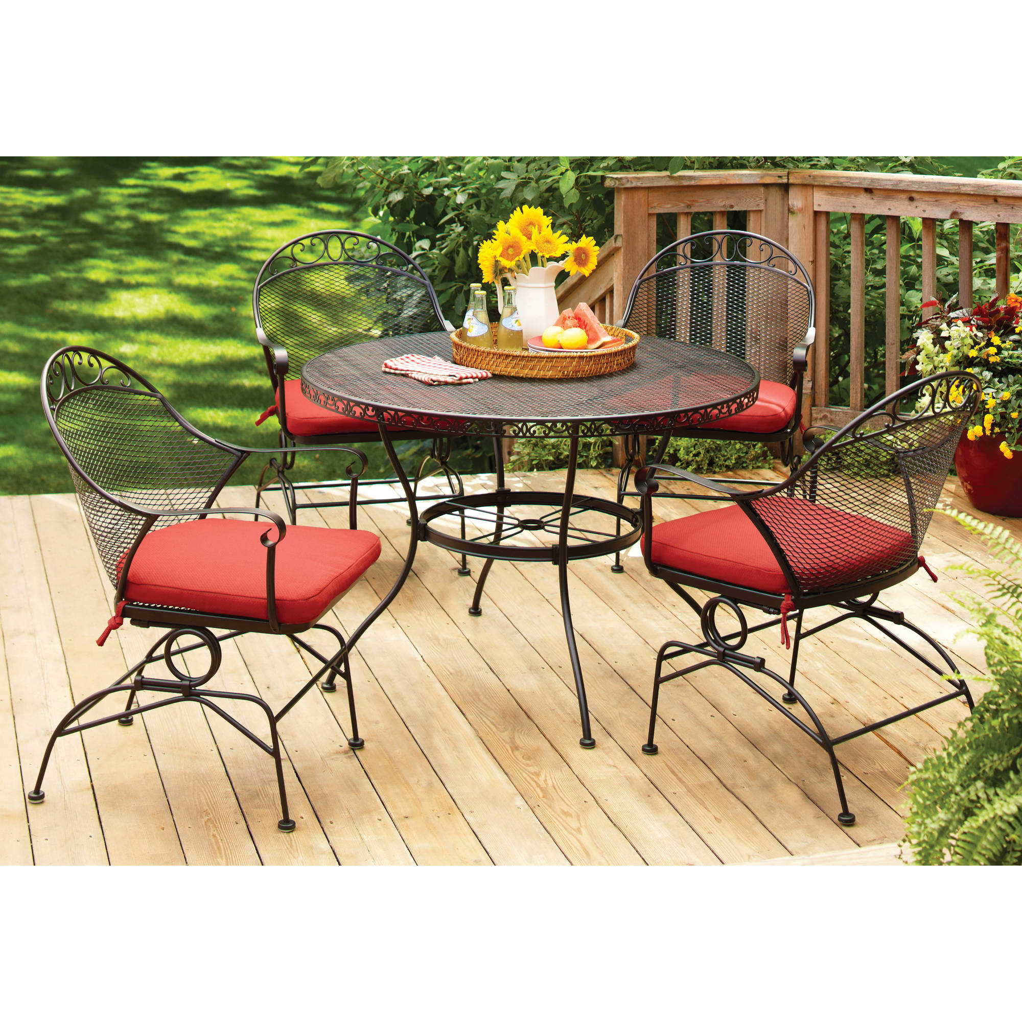 Gardens Wrought Iron Patio Dining Set