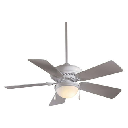 21708f824334 Minka Aire F563-SP-WH Supra 44 in. Indoor Ceiling Fan - White - Walmart.com