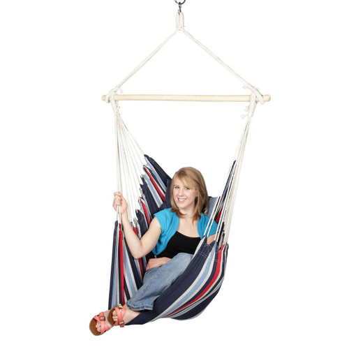 Blue Sky Hammocks Hanging Chair With 2 Cushions And Free Hammock Straps