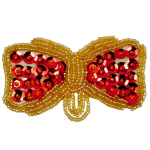 Expo Int'l Bow Beaded And Sequin Applique